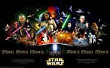 Star Wars Saga Movie Poster 24'x36' Certified Print with Holographic Sequential Numbering for Authenticity