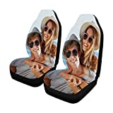 MyPupSocks Custom Face Photo Car Seat Covers, Personalized Happy Couple on Sea Background Car Seat Protector 2 Pack