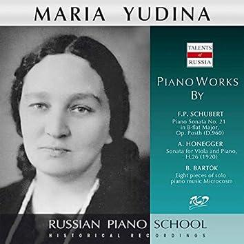 Schubert, Honegger & Bartók: Works
