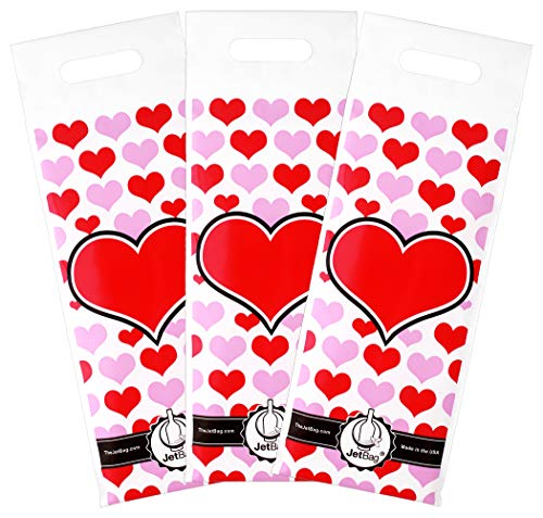 Jet Bag HEART - The Original ABSORBENT Reusable & Protective Bottle Bags - PACK OF 3 - MADE IN THE USA