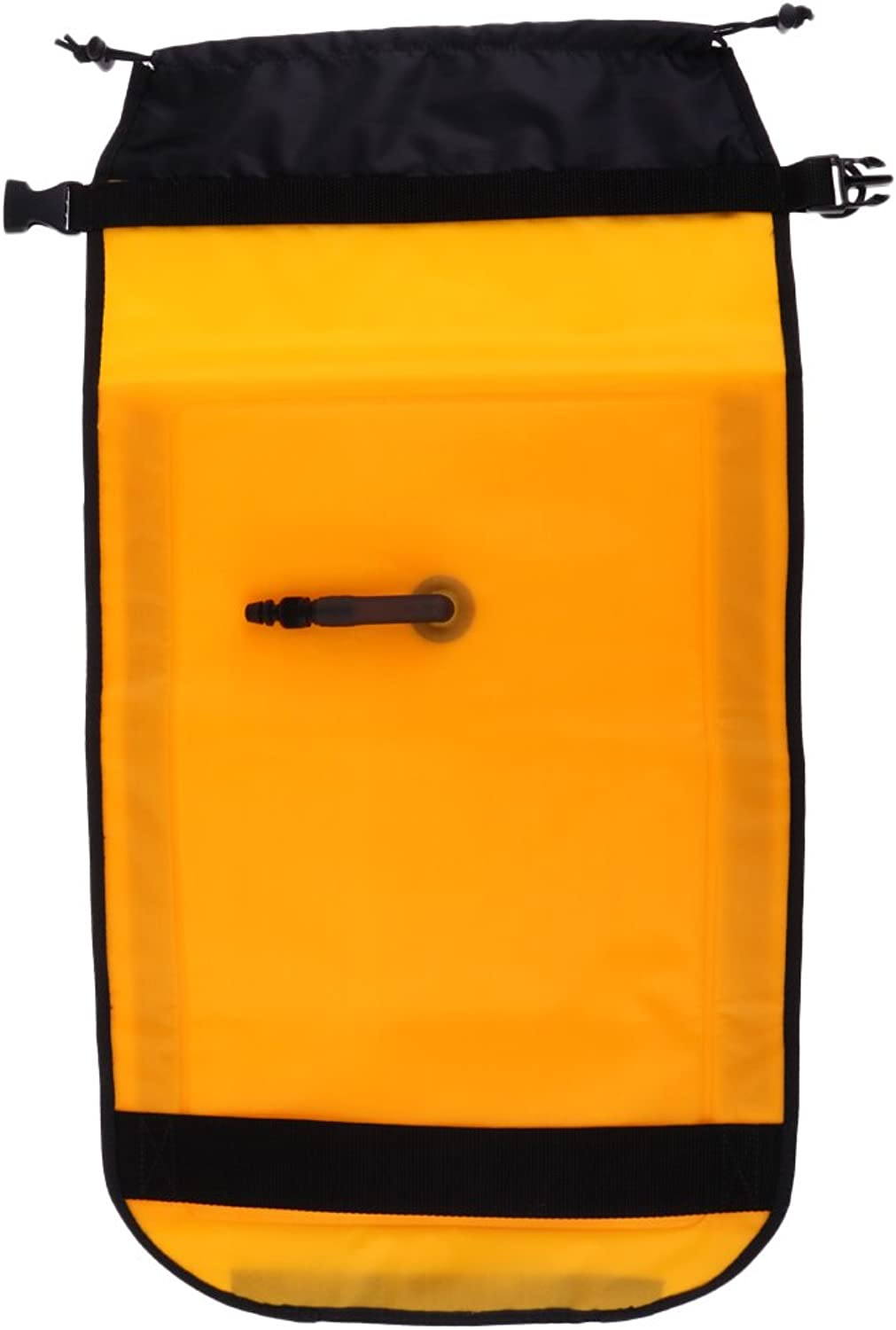 MagiDeal Dual Chamber Inflatable Paddle Float Bag for Sea Kayak Paddle Yellow