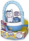 little live pets - Mascota parlanchina Perro con Cesta, Color Azul (Famosa 700012884B)