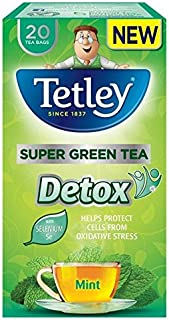 Tetley Super Green Detox Mint Tea Bags - 20 per pack (0.09lbs)