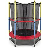 eHomeKart Trampoline with Safety Net (54-Inches) for Kids with 4-inch Soft Toy Ball- Colour May Vary
