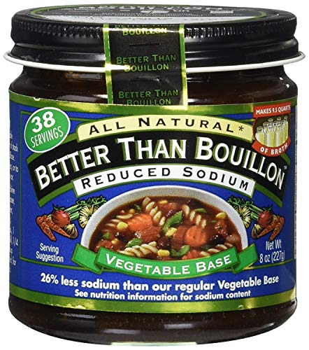 Superior Touch Better Than Bouillon reduced sodium vegetable base, 8-oz. glass.