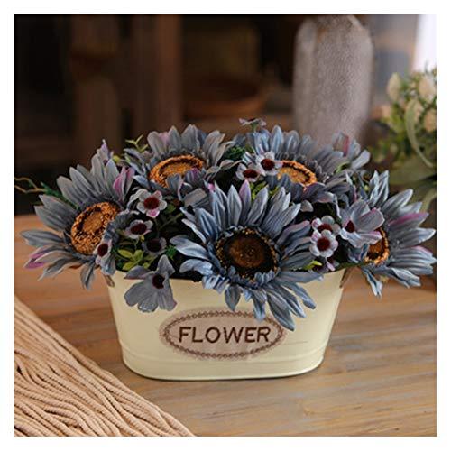 JISHIYU -S - Flores artificiales decorativas de seda, flores de Navidad en florero, plantas artificiales de flores artificiales para el hogar, jardín, fiesta, boda, decoración de mesa