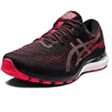 Asics Gel-Kayano 28, Zapatillas para Correr Hombre, Black/Electric Red, 47.5 EU
