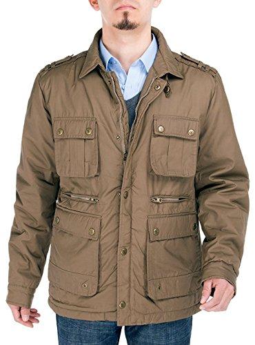 LN LUCIANO NATAZZI Mens Thermal Padded Jacket Parka Coat