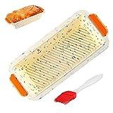 WELLXUNK Stampo Plumcake Silicone, Stampo in Silicone Stampo per Pane, Non-Stick Baking Mold per Le Torte Fatte in Casa e Pane - 30 Cm, Regalare 1 PCS Pennello in Silicone (Colore)
