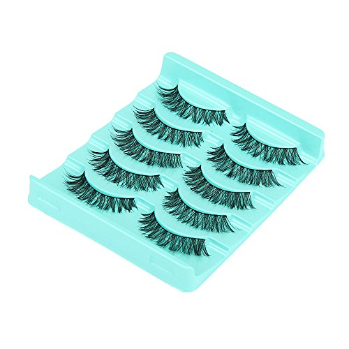 2019New 5 paires faux cils long cil noir maquillage yeux eyelashes (5 Pair)