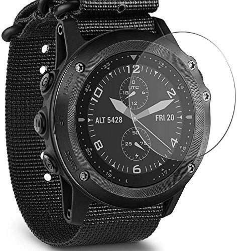Puccy 3 Pack Tempered Glass Screen Protector Film, compatible with GARMIN Tactix Bravo Protectors Guard (new version)