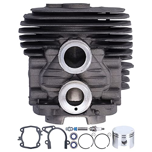 Les-Theresa Sierra de corte de 50 mm Reemplazo de junta de pistón de cilindro Kit de válvula de enchufe de encendido apto para TS410 TS420