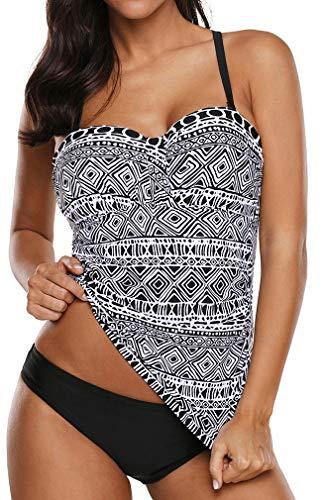 Socluer Bikini Tankini de Mujer Bikini Push up de Playa de Verano de Dos Piezas Traje de baño