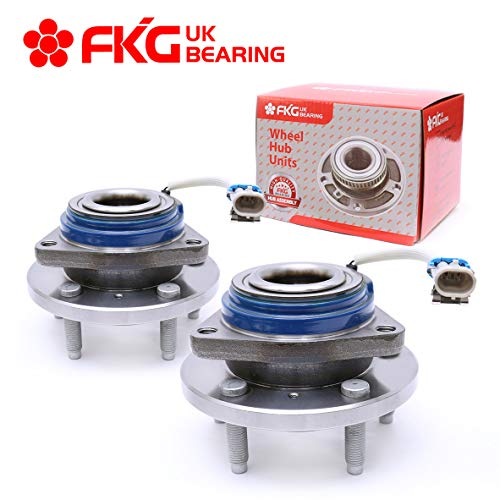 FKG 513121 Front Wheel Bearing Hub Assembly fit for Impala, Allure, Aurora, Bonnevile, Lesabre, Century, Seville, 5 Lugs W/ABS Set of 2
