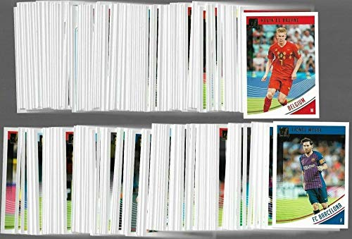 2018-19 Panini Donruss Complete Base Hand Collated NM-MT Soccer Set of 175 Cards - NO RATED ROOKIES - Includes multiple cards of Messi, Ronaldo, Mbappe, Suarez, Neymar Jr. Also includes photos of these players in their national uniform. Set does not come with the 25 short printed rated rookies cards.