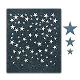 Sizzix Set de Troqueles Thinlits 4 pzas 664732 Lluvia de Estrellas de Tim Holtz, Falling Stars, Talla única