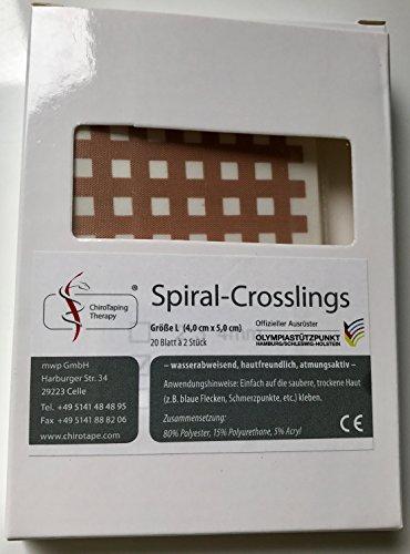 ChiroTape 40 Spiral-Crosslings L, Mückenpflaster, Mosquitopflaster, Blaue Flecken, Akne, Juckreiz, Insektenstiche