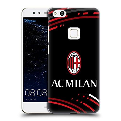 Head Case Designs Ufficiale AC Milan Curvato 2018/19 Modelli Cresta Cover Dura per Parte Posteriore Compatibile con Huawei P10 Lite