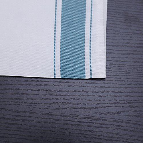 ZHFC tissus de coton verre fleur serviette tissu en verre coton laine pas disparaître des serviette 50 * 70 cm 1.,des rayures vertes,70 50 *
