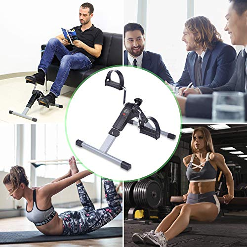 Agudo Mini Fitness Foot Pedal Exerciser Cycle, Foldable Portable Foot, Hand, Arm, Leg Exercise...
