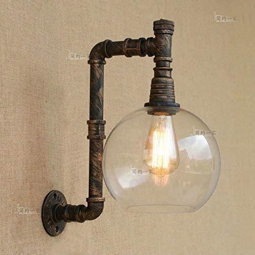 Kaige Vintage industriële stijl smeedijzeren waterpijp wandlamp wandlamp Loft Industrial Wind Cafe Bar Gass lampenkap wandlamp