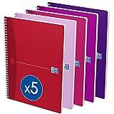 Oxford Office 100103952 263254 - Blocco a spirale Beauty, formato A4, 100 pagine, confezione da 5 blocchi