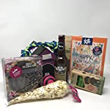 Pet Presents Dog Birthday Cake Gift Hamper with Doggy Beer and edible Birthday Card