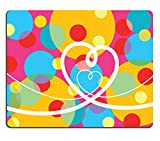 Qzone Mousepads retro pop dots and loopy hearts vector illustration IMAGE 1399259 Customized Art Desktop Laptop Gaming mouse Pad
