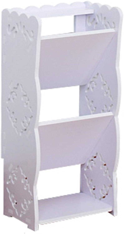 JIANFEI shoes Shelf Rack Ramps Carved Space-Saving Storage Cabinet Wood-Based Panel (Size   23  17  51cm)