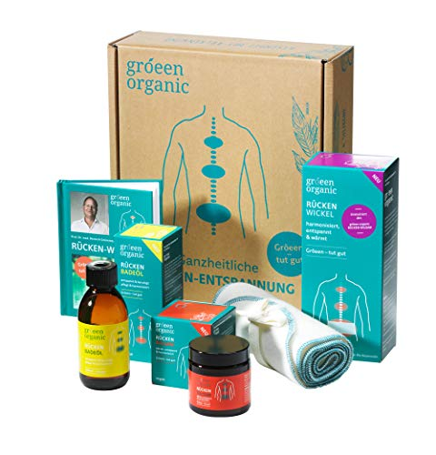 gröeen organic Rücken-Wellness-Box als Set mit GRATIS Rücken Fibel – hochwertige ausgewählte Produktsammlung gegen Rücken-Verspannungen und zur Muskelentspannung für Körper, Geist und Seele