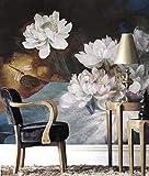 Wongxl Dipinti Ad Olio Moderni Di Fiori Di Loto Carta Da Parati Tv Dipinti A Parete Divano Letto Alle Pareti Del Caffè 3D Carta Da Parati Wallpaper Mural Murale 440cmx326cm