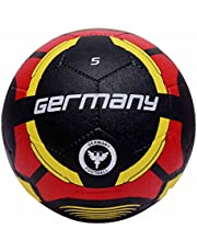 Vector X Germany Rubber Moulded Football, Size 5, black-red, black-red