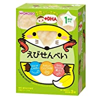 和光堂 1歳からのおやつ えびせんべい 6g×3袋