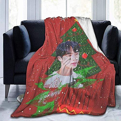 iuitt7rtree BTS X-Mas Jin Ultraweiche Micro Fleece Decke 3D-gedruckte weiche Decke für das Wohnzimmer