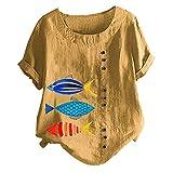 Fossen Blusas y Camisas de Mujer Verano Tallas Grandes...