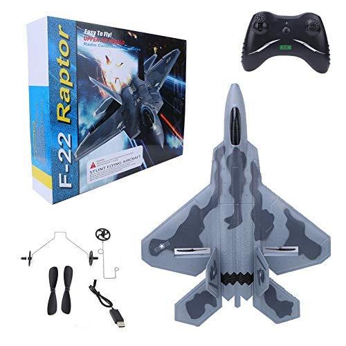 Dilwe RC Spielzeug Kampfflugzeuge, FX-822 ferngesteuerte Jagdflugzeug Kämpfer Spielzeug EPP Fernbedienung Flugzeug Drohne F22-Modell Geschenke für Kinder