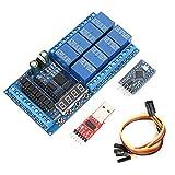 𝐂𝐡𝐫𝐢𝐬𝐭𝐦𝐚𝐬 𝐆𝐢𝐟𝐭 Placa de relé, DC 12V 8 canales Pro Mini PLC Módulo de protección de relé Placa de interruptor de temporizador de retardo para Arduino(#3)