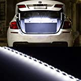 Trunk Lights - iJDMTOY 18-SMD-5050 LED Strip Light Compatible With Car Trunk Cargo Area or Interior Illumination, Xenon White