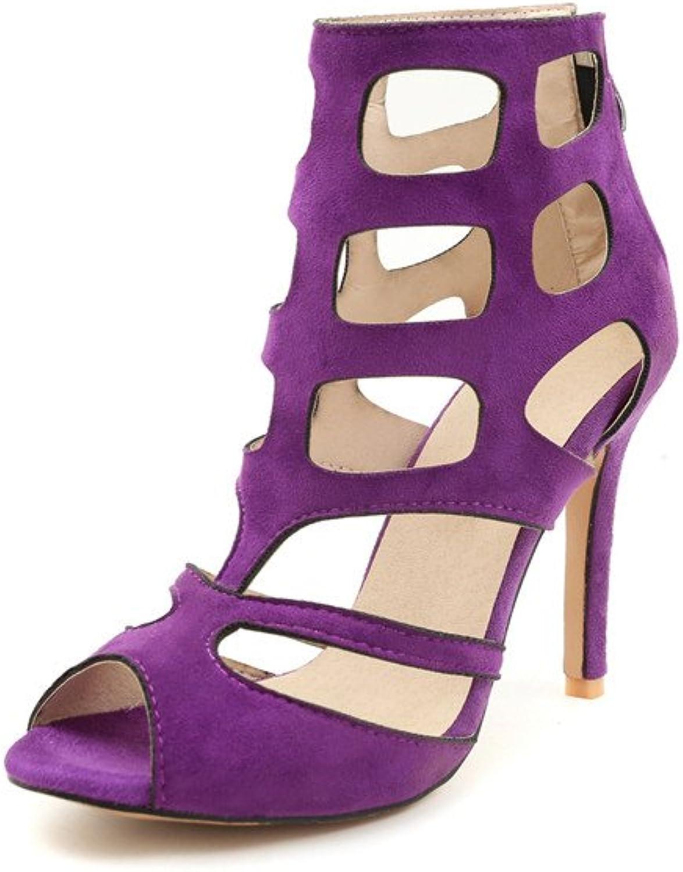 Women's Sandals Summer Fashion Personality Stiletto Heel Large Size Lady's High Heels Pumps 32-46,Purple,40