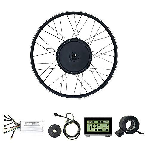 SCHUCK 48V1000W Ebike kit, Electric Bicycle Conversion Kit, Hub Motor 26inch Rear Wheel, with KT-LCD3 USB Display