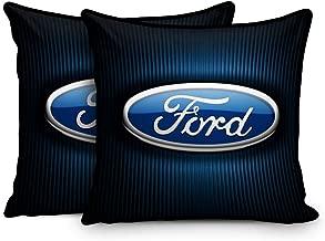 sleep nature's Car Cushions (Blue, 12x12-inch) -Set of 2