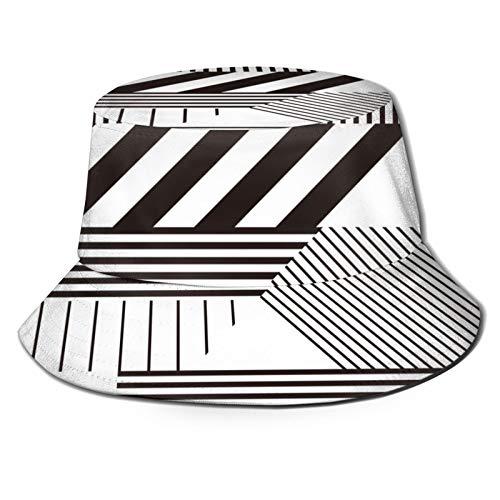 PUIO Sombrero de Pesca,Fondo Transparente Estilo Retro Bauhaus,Senderismo para Hombres y Mujeres al Aire Libre Sombrero de Cubo Sombrero para el Sol