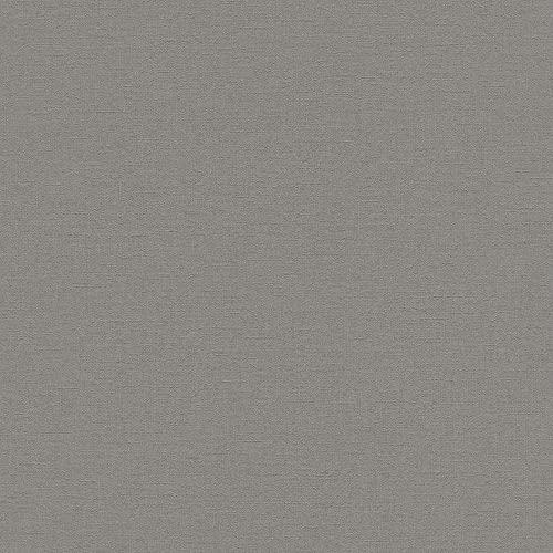rasch Tapete 448627 aus der Kollektion Florentine II – Einfarbige Vliestapete in Grau – 10,05m x 53cm (L x B)