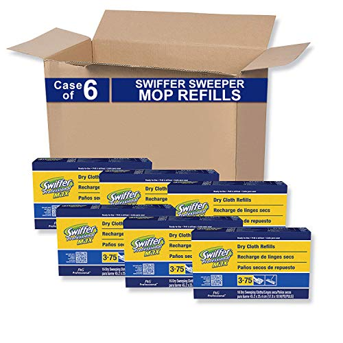 P&G PROFESSIONAL - 37109CT P&G Professional Heavy Duty 17-in Wide Duster Dry Cloth Mop Refills by Swiffer, Ideal for Commercial use on Hardwood, Tile or for Hand Dusting, 16 Cloths per Box (Case of 6)