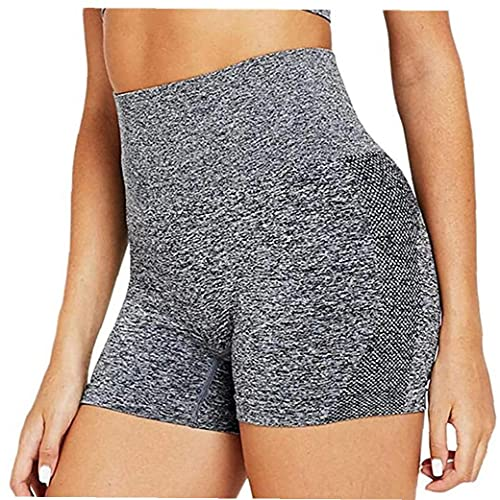 Diseño sin costuras: pantalones cortos de mujer yoga, utilizando la innovadora tecnología sin costuras tejido, pueden crear shorts de gimnasia, esbozar su curva y simplificar la forma natural de su
