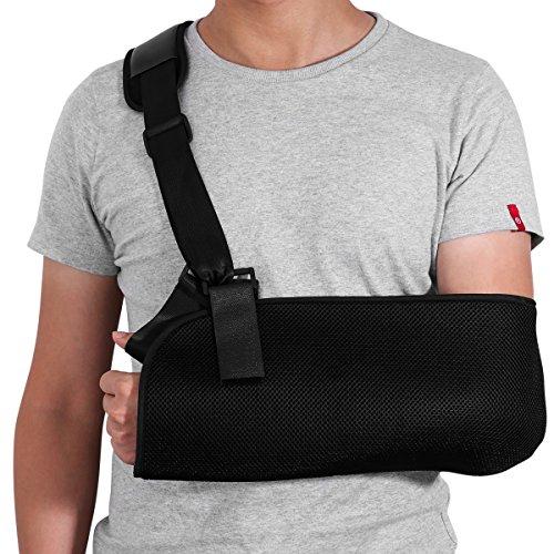 Healifty Arm Sling Inmovilizador de hombro ajustable Codo de apoyo de muñeca para huesos fracturados y fracturados