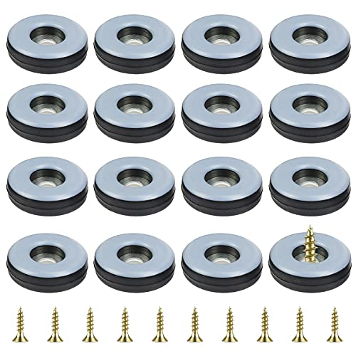 SEELOK 24 piezas Deslizadores de Muebles Deslizantes para Muebles Deslizadores de Protección de Suelo Deslizadores de Teflón Redondo para Silla Cama Mesa Sofá