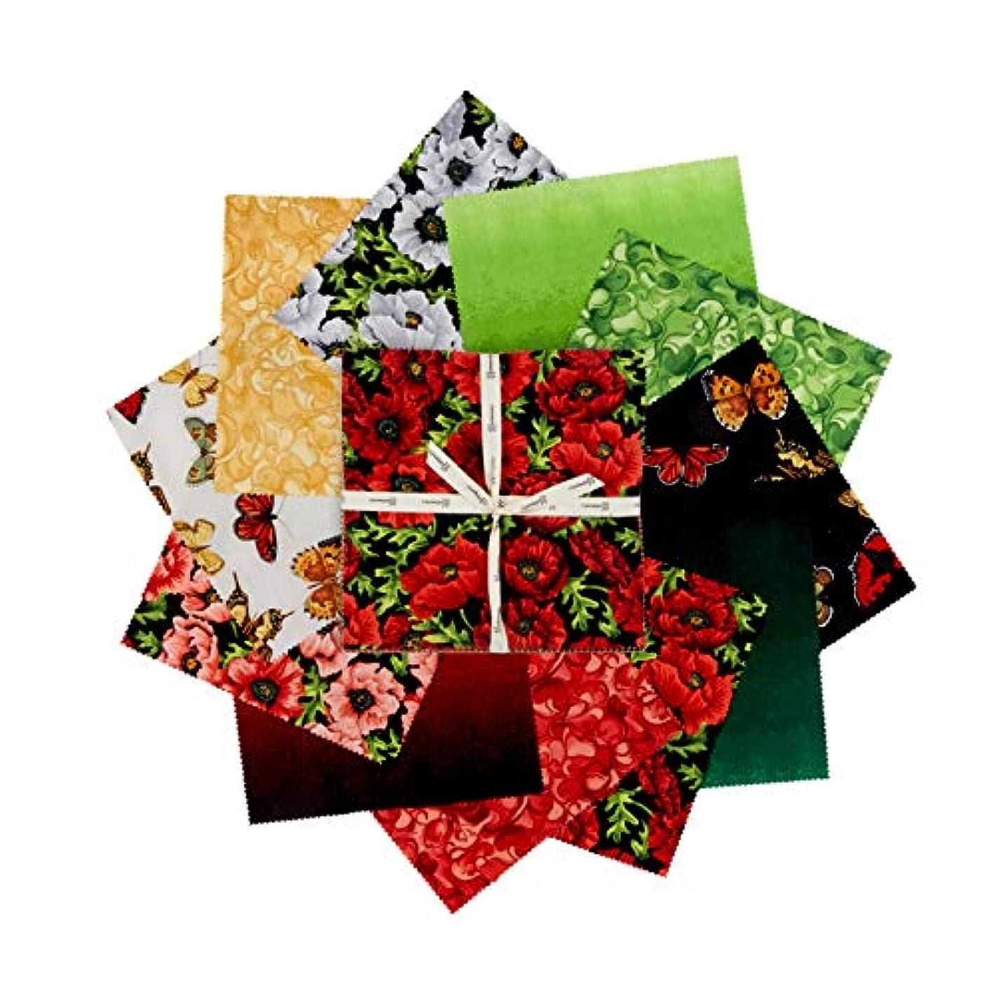 Clothworks Poppy Poetry 10in Squares 42 pcs.
