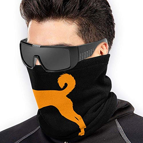 XXWKer Microfibre Chapeaux Tube Masque Visage Tour de Cou Cagoule, Canaan Dog Microfiber Polyester Seamless Windproof Bandana & Face & Neck Warmer Gaiter Shield - for Unisex