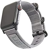 URBAN ARMOR GEAR UAG Compatible Apple Watch Band 44mm 42mm, iWatch Series 6/5/4/3/2/1 & Watch SE, High Strength Nylon Weave Replacement Strap, NATO Grey